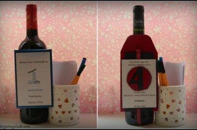 Kreatywna księga gości na butelkach z winem DIY