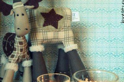 Świąteczne świeczniki na wesele - kurs DIY