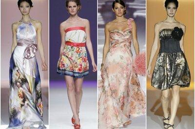 Robes à fleurs et avec imprimé pour mariage en 2013