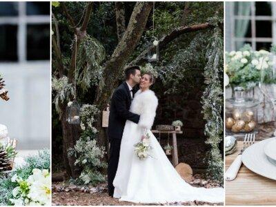 Un mariage à la scandinave avec ce délicat shooting d'inspiration hivernal