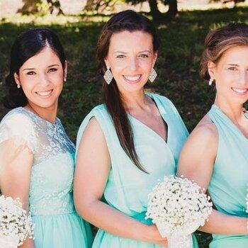 Um toque de cor no vestido de noiva!