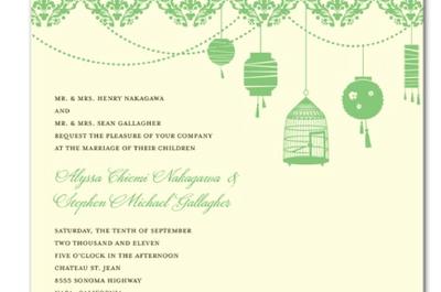 Invitaciones de boda en color verde esmeralda