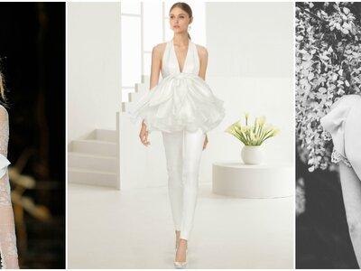 Vestidos de novia con volantes: Increíbles diseños para la próxima temporada