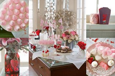 Inspiración para boda con toques de color rojo