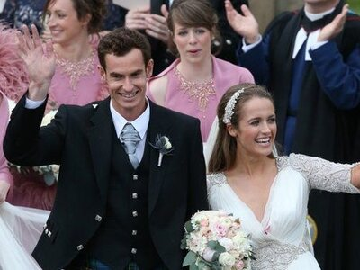 The bride wore Jenny Packham and the groom wore... a kilt! Details from Andy & Kim's big day!