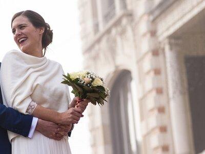 Le mariage intime et hivernal d'Anna et Benjamin sur les hauteurs de Lyon