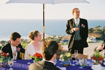 ¿Cómo preparo un discurso para el brindis de boda?