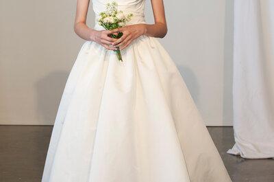 Bekijk de klassieke en chique stijl van Amsale tijdens de Bridal Week in New York 2015