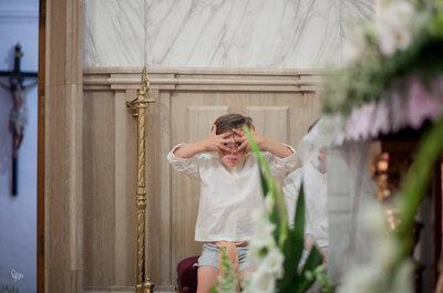 Los niños, protagonistas de tiernas imágenes en las bodas