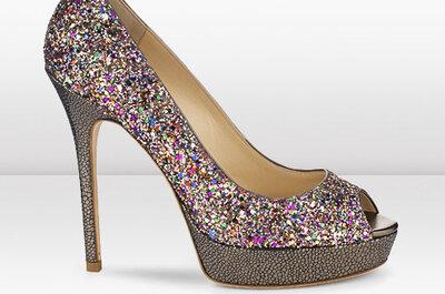 Złoto, srebro i nude - buty ślubne Jimmy Choo