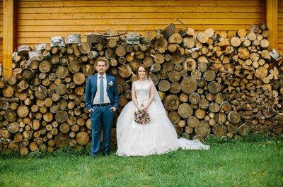 Вдали от городской суеты: свадьба Ксении и Станислава в стиле шебби шик!