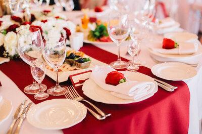 ¡Celebra tu matrimonio en tonos rojos y déjate conquistar por el color de la pasión!