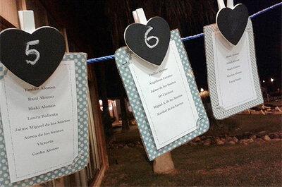 Decoración DIY para bodas: Sitting de inspiración navy