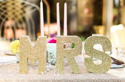 Decora tu boda con un toque glitter, ¡deslumbrarás!