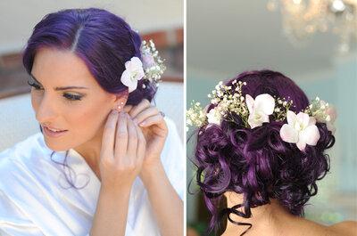 Real Wedding: Sheila + Emiliano, una boda íntima en tonos violetas