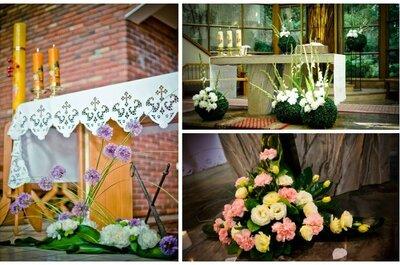 Ślubne propozycje dekoracji kościoła i sali weselnej