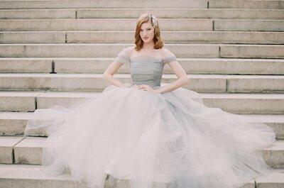 Błękitna suknia ślubna dla prawdziwej księżniczki