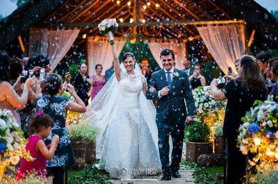 Casamento de Carla & Rafael no Rio: ao ar livre, no campo e mágico!