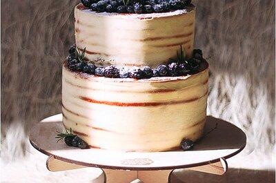 Тайны осеннего леса в свадебных тортах