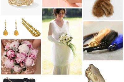 Look pour une mariée Gatsby : une robe des