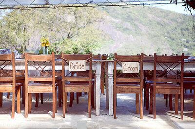 Individuelle Tischkarten aus verschiedenen Materialien