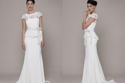 El vestido de la semana: una novia clásica y sofisticada de Elizabeth Stuart
