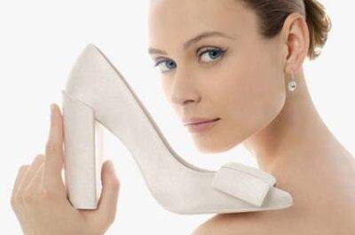 Escolha o seu sapato de noiva Rosa Clará