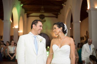 Jennifer y José Alberto, ¡Qué bonito amor! Una boda entre una colombiana y un mexicano