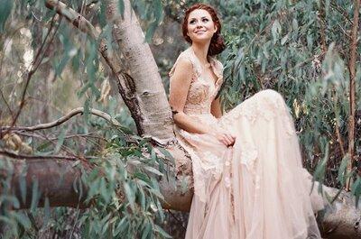 Trouwen in 2015: stralen in een gekleurde bruidsjurk!