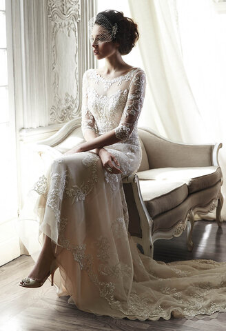 A trend in beaded bridal gowns for 2015
