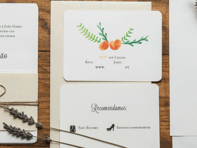 Convites de Casamento: as 10 melhores empresas no Porto