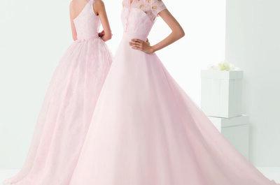3 vestidos de novia en color rosa diseñados por Rosa Clará