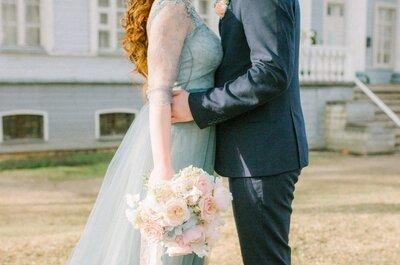 Под действием волшебных чар: свадебная фотосессия в цветах Pantone