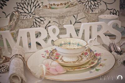 La mejor decoración para mesas de banquete estilo vintage