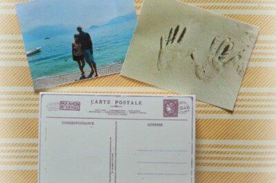 Kartki z podróży poślubnej jako podziękowania dla gości