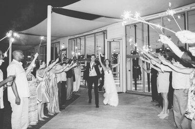 La foto de bodas de la semana: Fueguitos