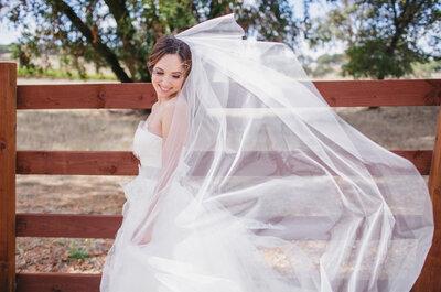Los velos y tocados que completarán tu look de novia en 2015