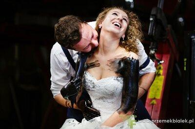 Trash the dress - czyli warsztatowa sesja fotograficzna Katarzyny i Krzysztofa