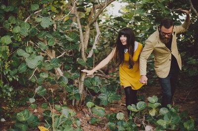 Sesión de fotos pre boda estilo hipster inspirada en Wes Anderson