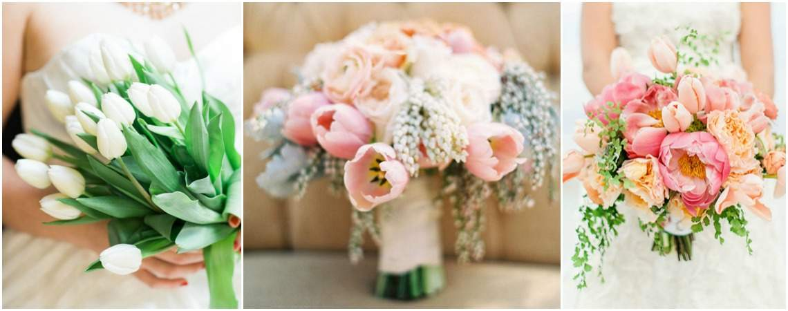 Descubre los más lindos ramos de novia con tulipanes