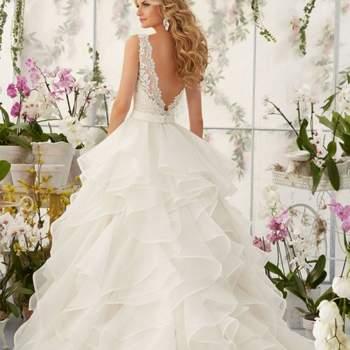 Vestidos de novia con volantes 2017. ¡Una tendencia que no pasa de moda!