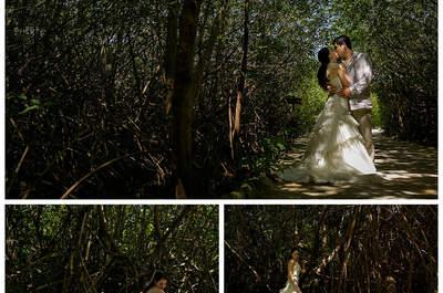 Jessy + Sam: Sesión de fotos Trash the Dress en la Riviera Maya