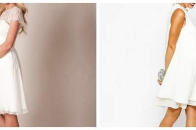 Traumhaft schöne Hochzeitskleider für Schwangere