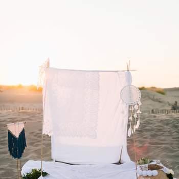 Un mariage bohème sur la plage : inspiration gipsy-chic en Provence