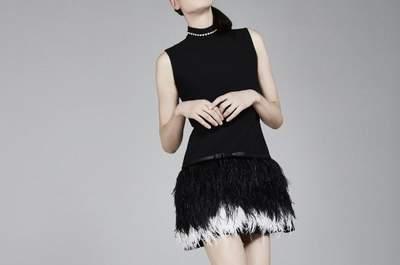 Espetaculares vestidos de festa curtos pretos 2017. Um clássico em versão jovial!