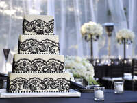 For the Love of Lace Wedding Cakes