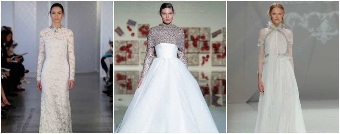60 magníficos vestidos de noiva de manga comprida 2017: Apaixone-se no momento!