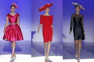 Vestidos coloridos para invitadas de Franc Sarabia 2015 - BBW