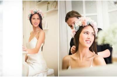 Свадебные венки из цветов для невест 2016: они идеальны!