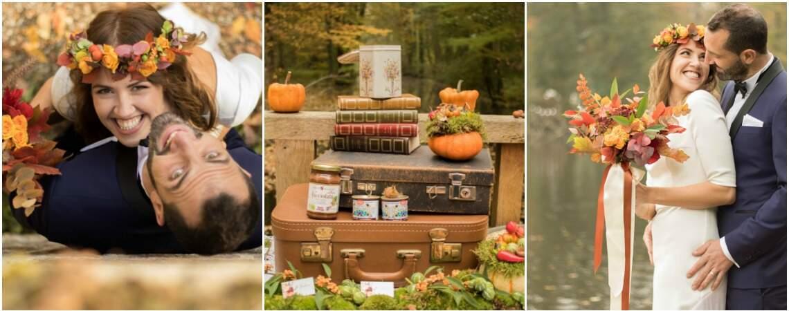 Un mariage aux couleurs de l'automne avec Justin et Tiffany de l'émission Mariés au premier regard !